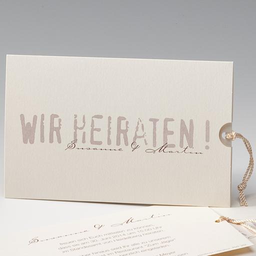 unser allrounder - einladung | farbe weiß/creme | hochzeitskarten, Einladung
