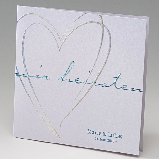 Einladungskarte Iris | Farbe Weiß/creme | Hochzeitskarten, Einladungs