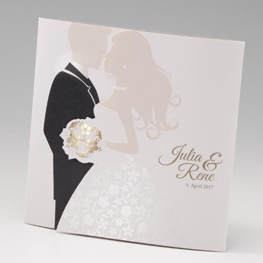 ... weiß/creme  Hochzeitskarten  wedding-giveaways.de - Hochzeitskarten